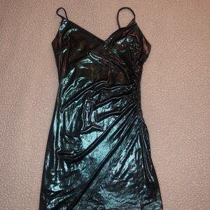 Fashion nova metallic dress